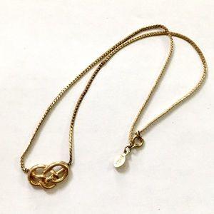 Avon Knot Necklace Gold